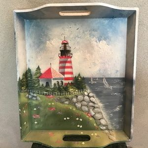 Hand Painted Serving Tray